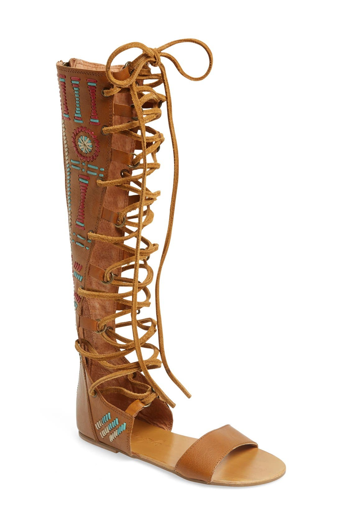 Alternate Image 1 Selected - Free People 'Bellflower' Tall Gladiator Sandal (Women)