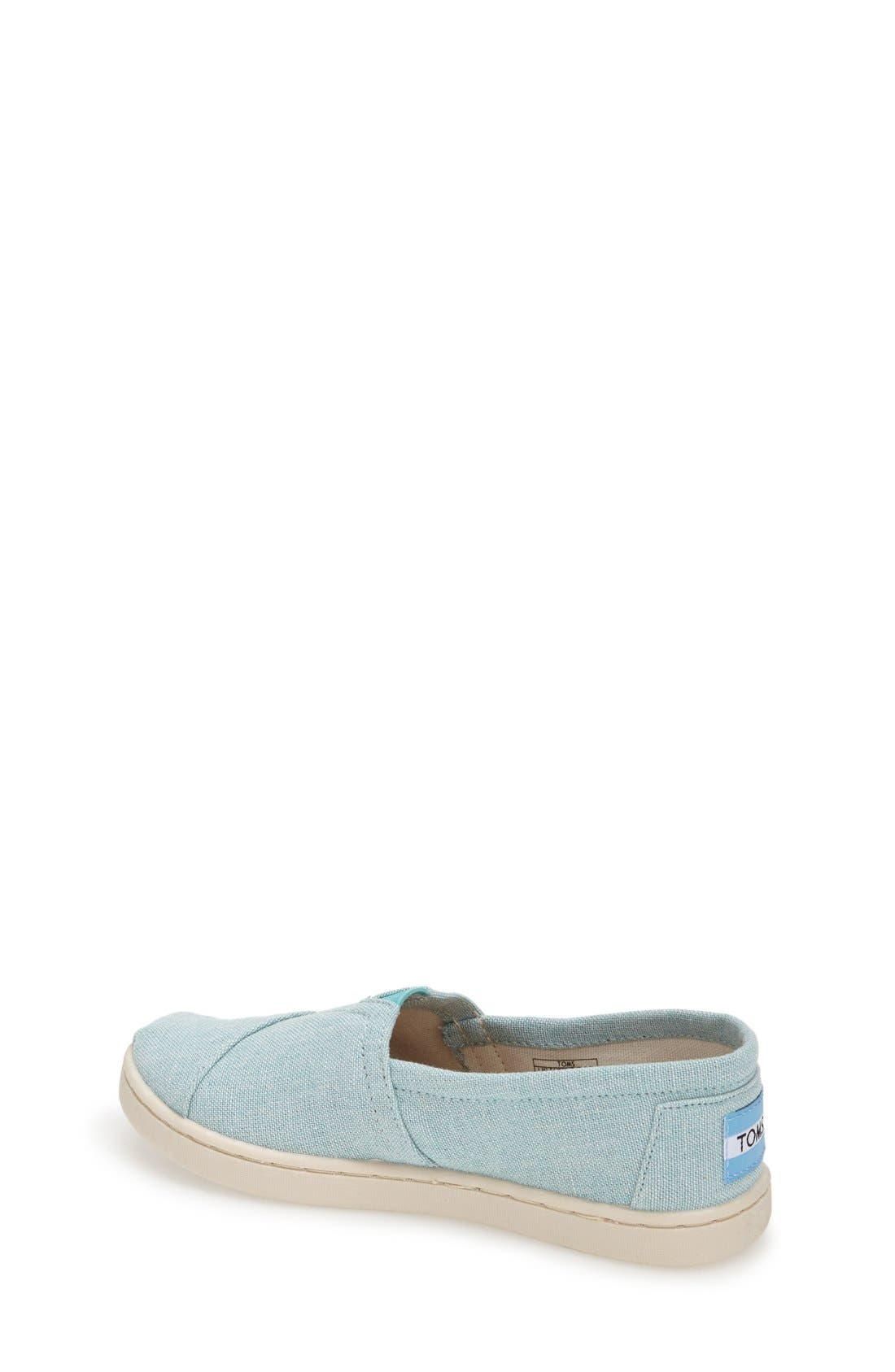 Alternate Image 2  - TOMS 'Classic Youth - Chambray' Slip-On (Toddler, Little Kid & Big Kid)