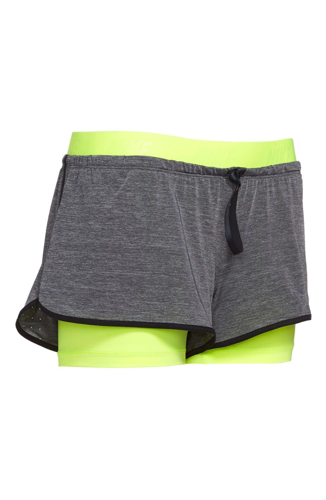 Alternate Image 5  - Nike 'Pro Inside Full Flex' Dri-FIT Training Shorts (Women)