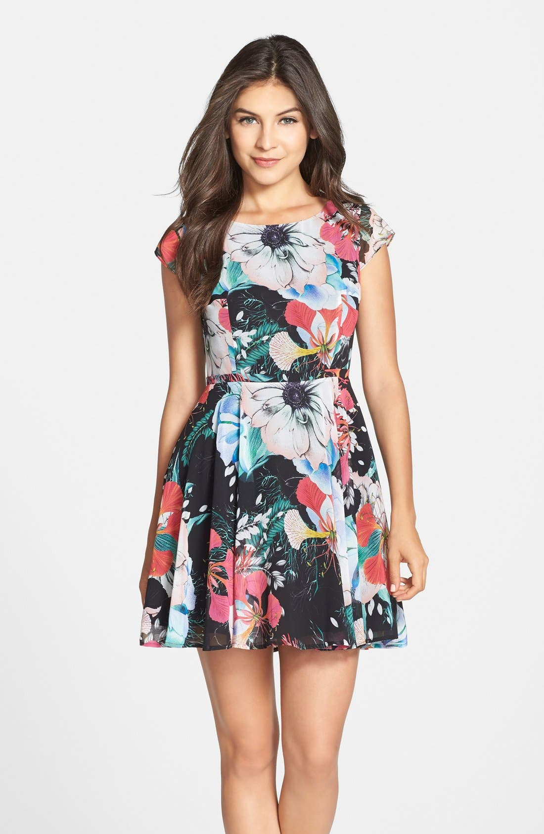 Alternate Image 3  - French Connection 'Floral Reef' Print Chiffon Fit & Flare Dress