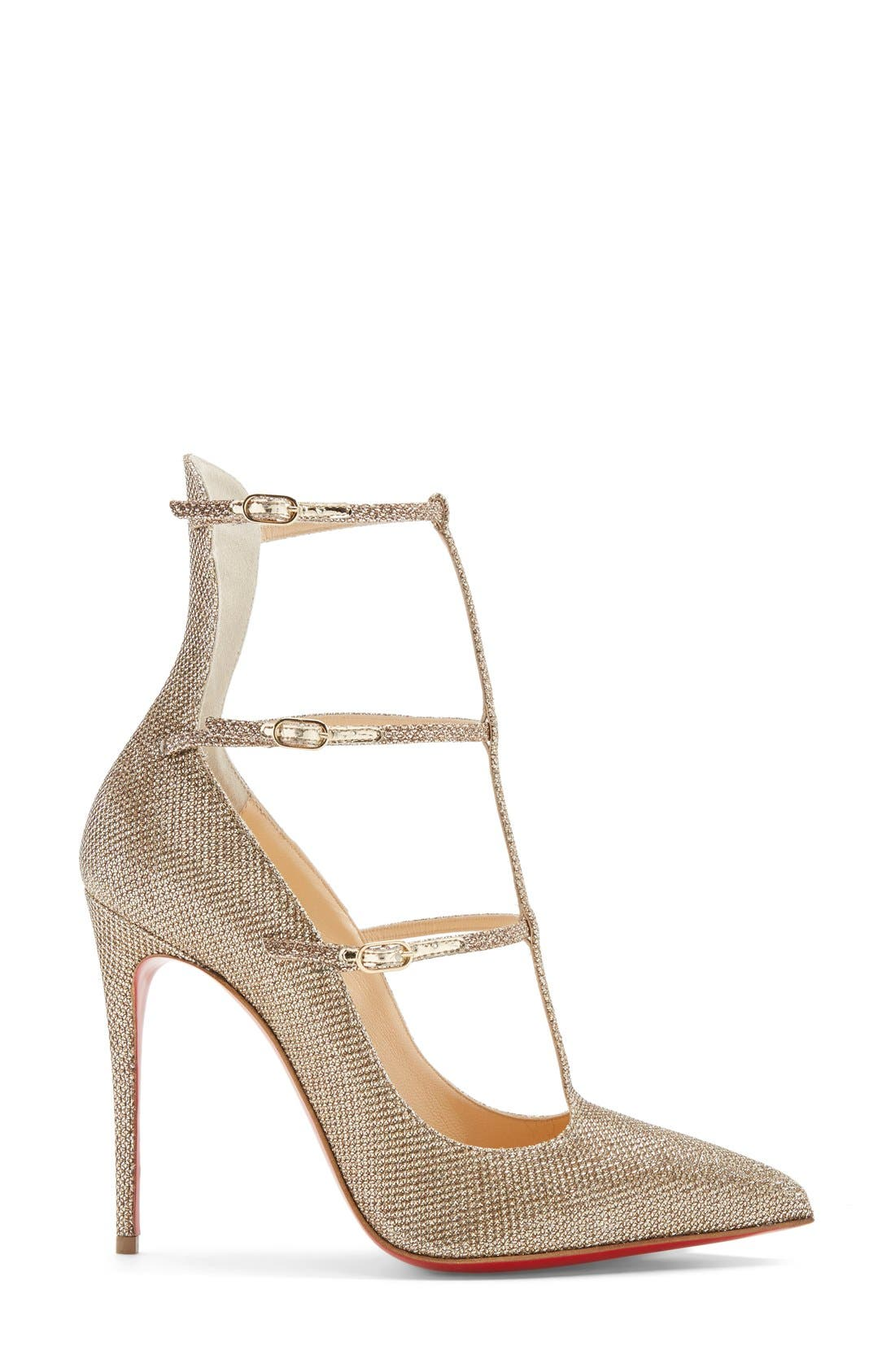 Alternate Image 4  - Christian Louboutin 'Toeless' Caged Pointy Toe Pump