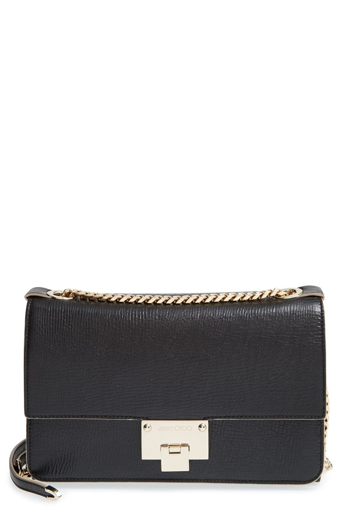 Alternate Image 1 Selected - Jimmy Choo 'Rebel' Washed Leather Shoulder Bag