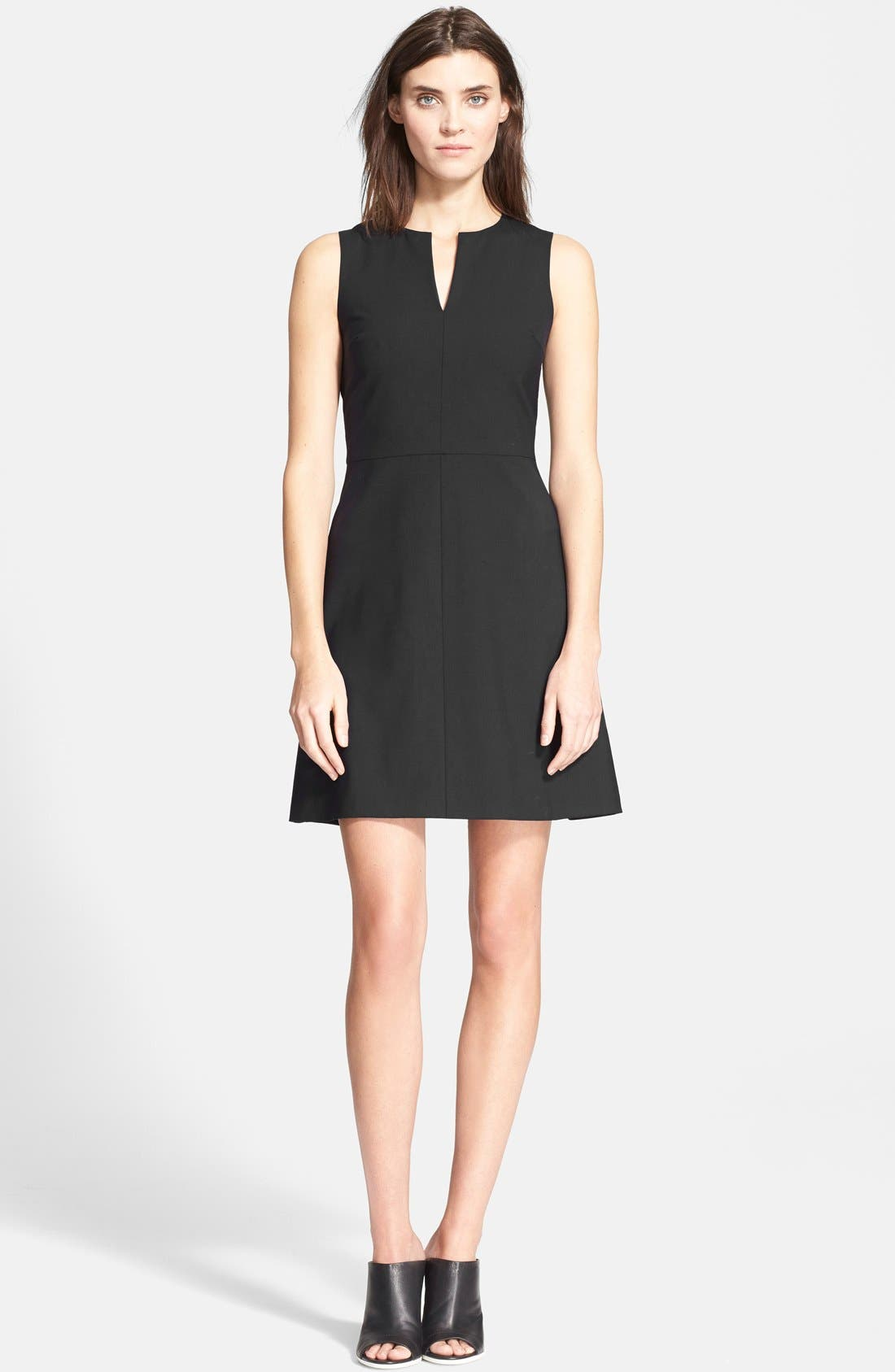 Theory 'Miyani' Stretch Wool Fit & Flare Dress