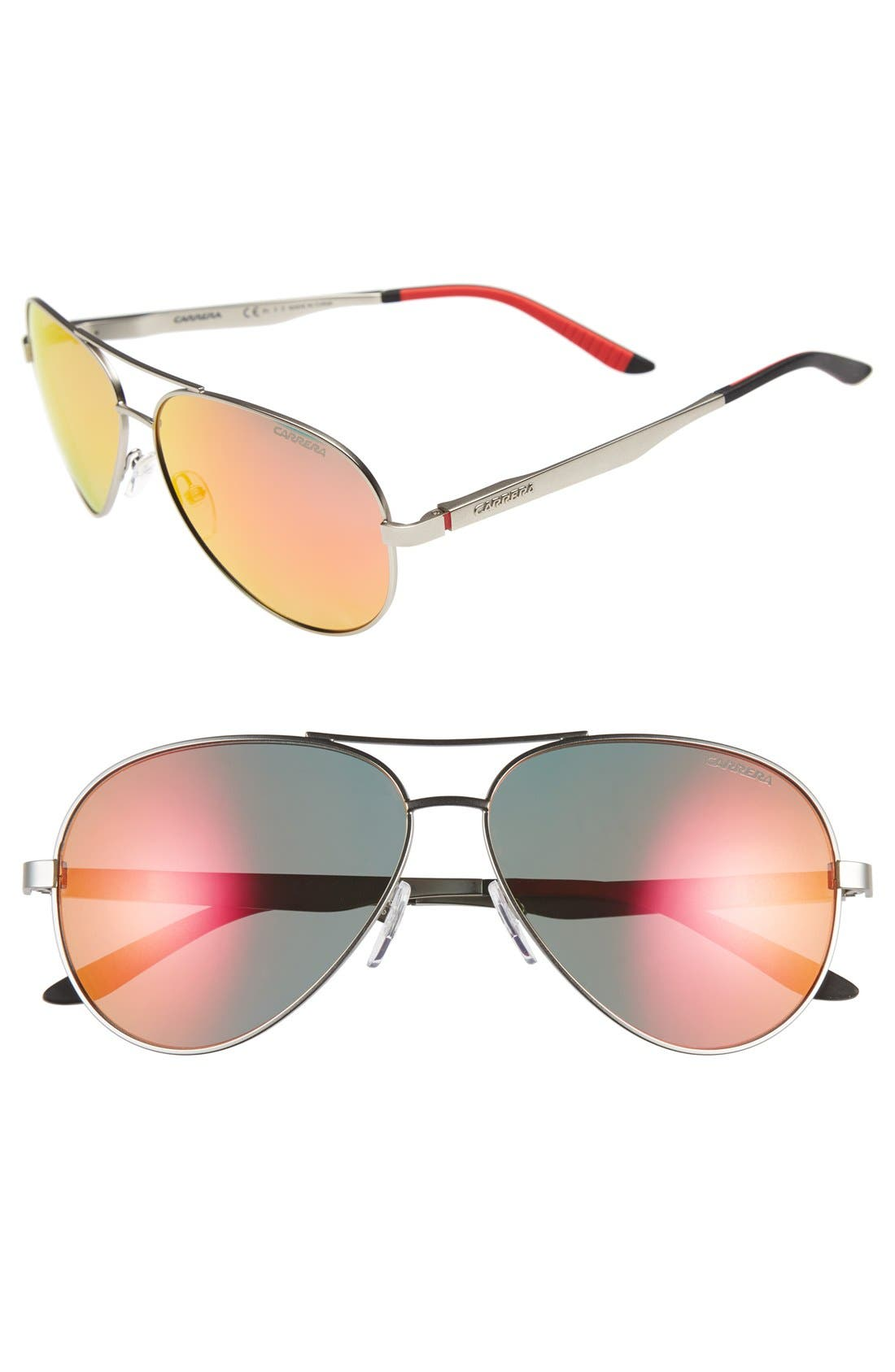 CARRERA EYEWEAR 59mm Metal Aviator Sunglasses