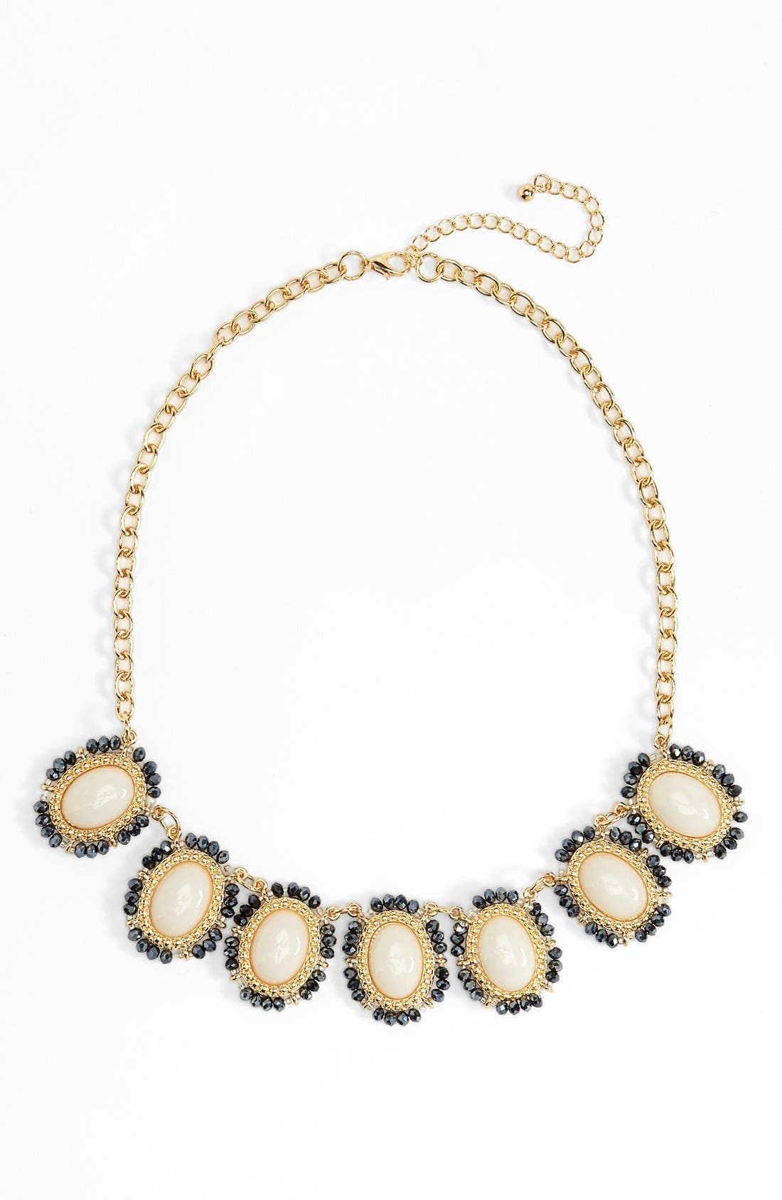 Alternate Image 1 Selected - BP. Bead & Stone Statement Necklace