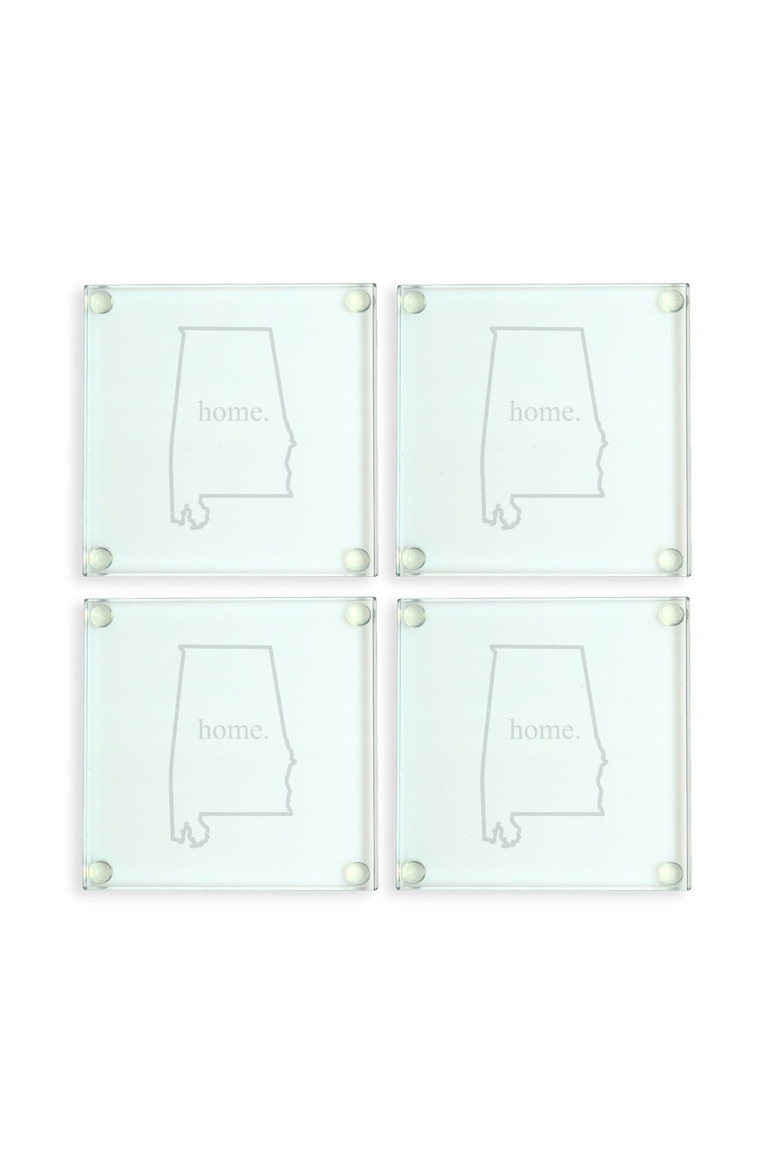 Cathy's Concepts 'Home State' Glass Coasters (Set of 4)