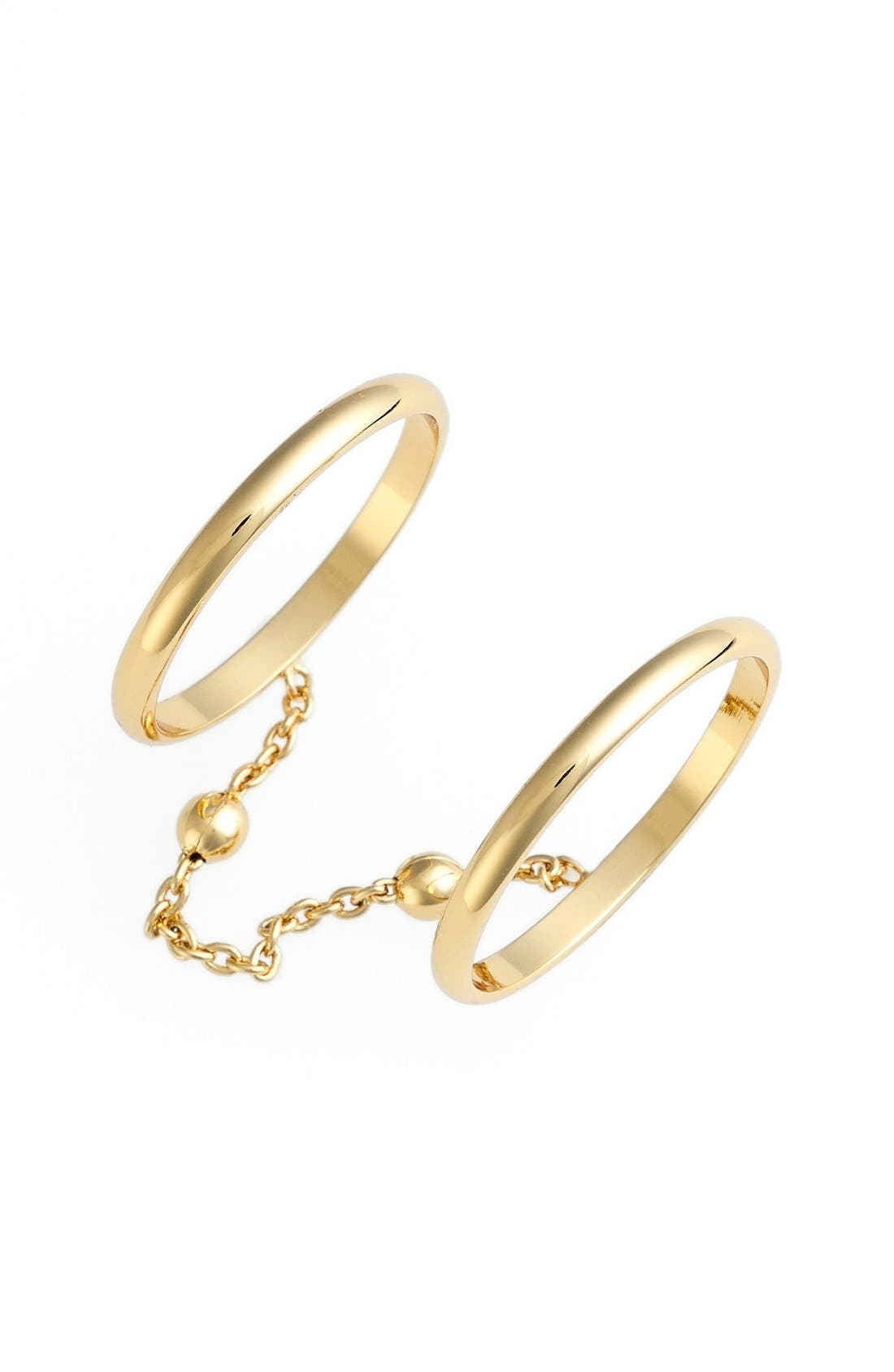 Alternate Image 1 Selected - Rebecca Minkoff Double Chain Ring