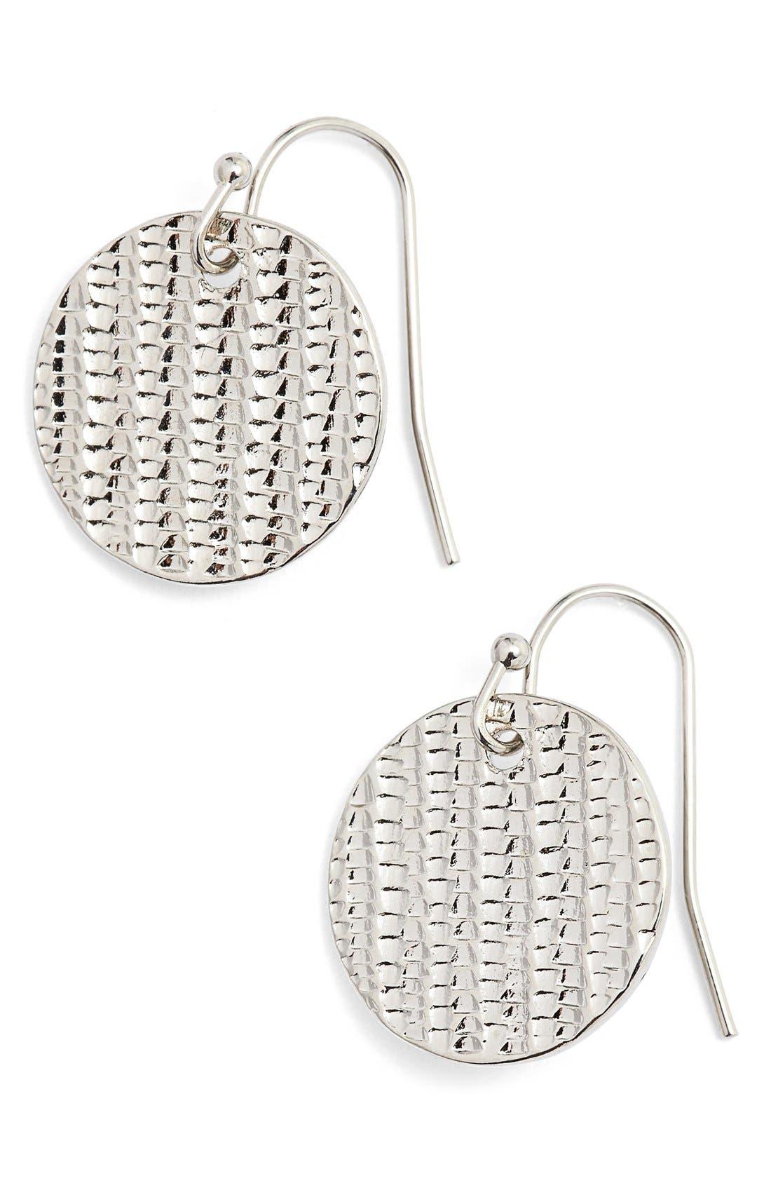 Alternate Image 1 Selected - Nordstrom Textured Disc Drop Earrings