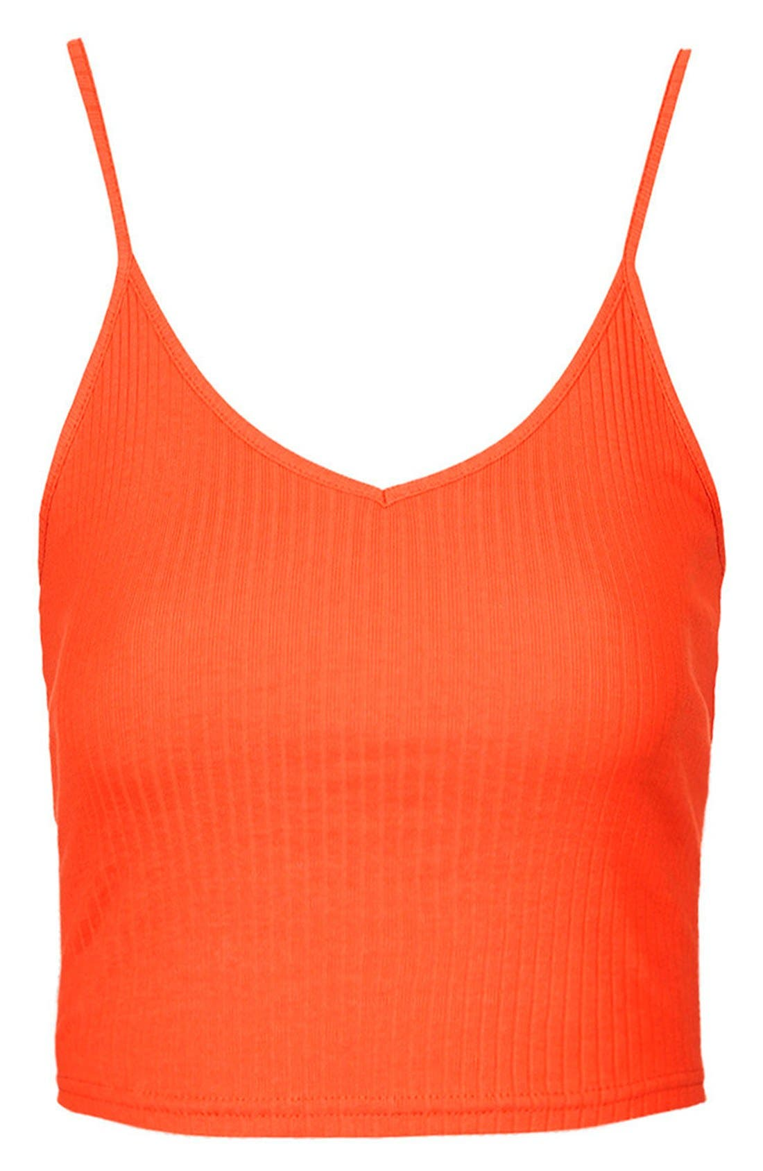 Alternate Image 3  - Topshop Ribbed Crop Camisole