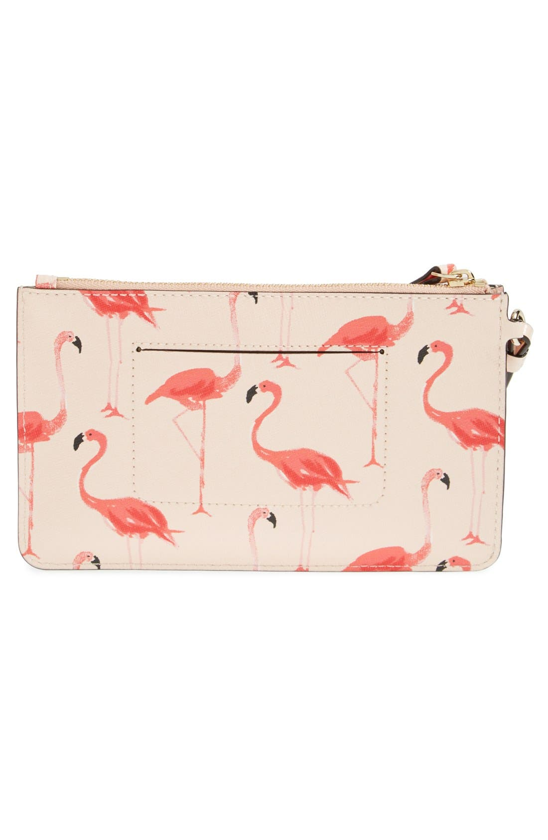 Alternate Image 3  - kate spade new york 'cedar street - flamingos slim bee' wristlet