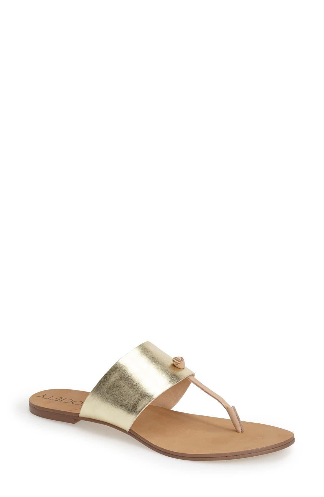 Alternate Image 1 Selected - Sole Society 'Sarena' Thong Sandal (Women)