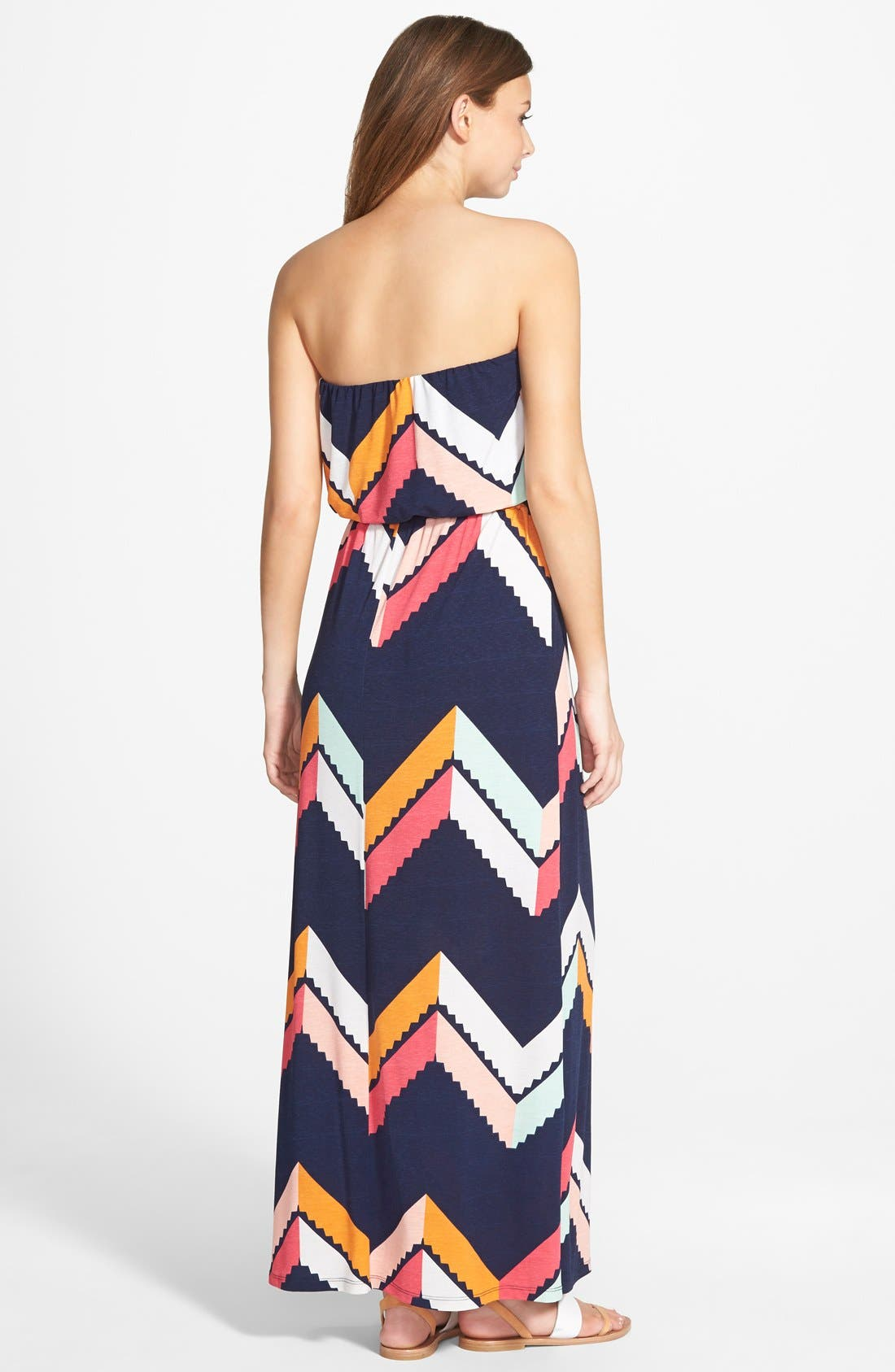 Alternate Image 2  - Trixxi Chevron Print Maxi Dress (Juniors)