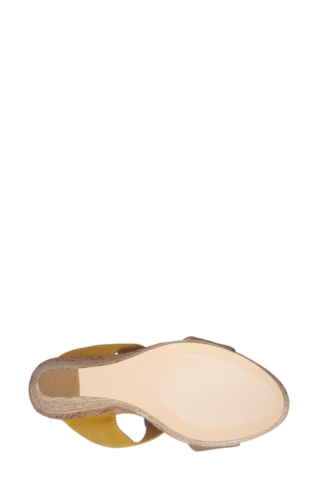 Alternate Image 4  - Charles by Charles David 'Alto' Espadrille Wedge Sandal (Women)