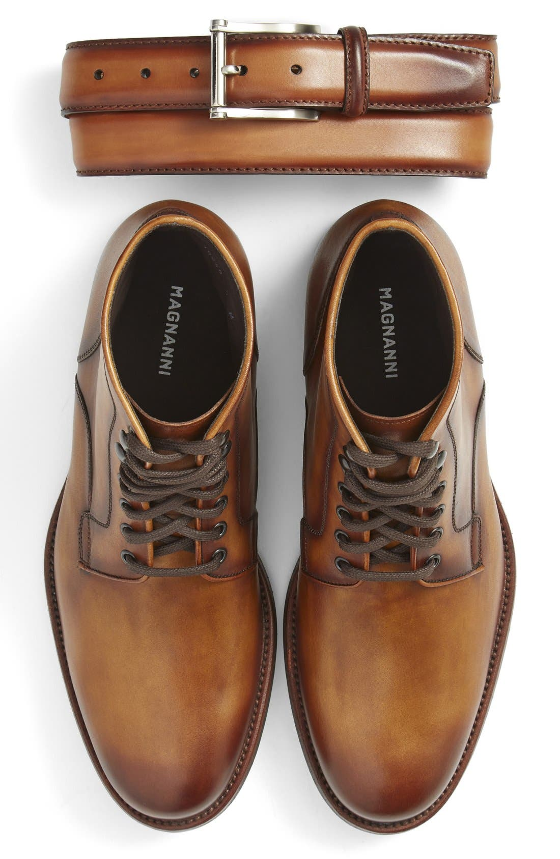 Magnanni Belt & Plain Toe Boot