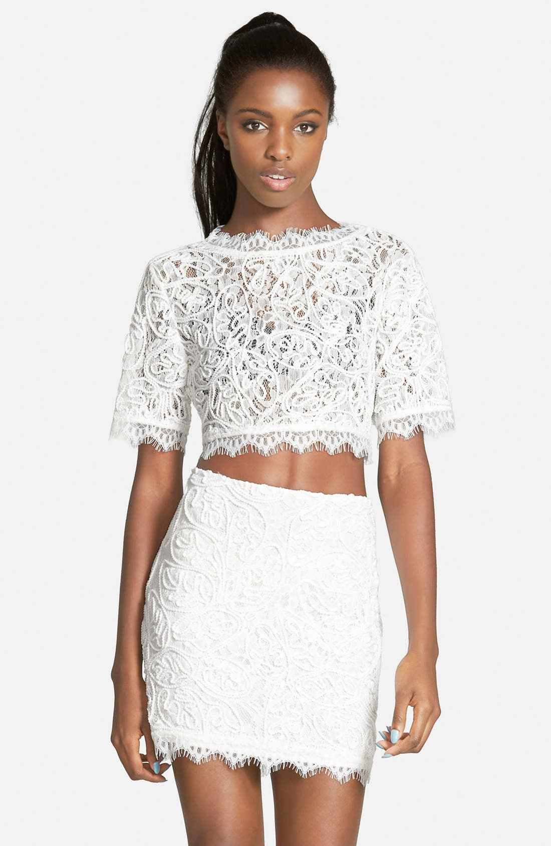 Alternate Image 1 Selected - Leith Lace Crop Top