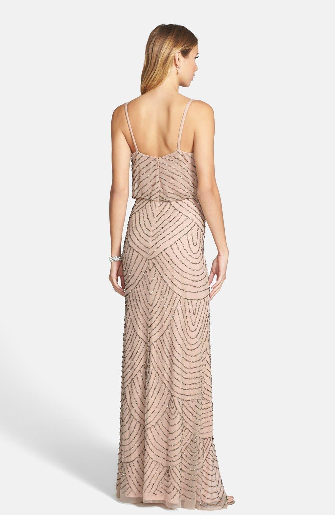 Alternate Image 2  - Adrianna Papell Embellished Blouson Gown (Regular & Petite)