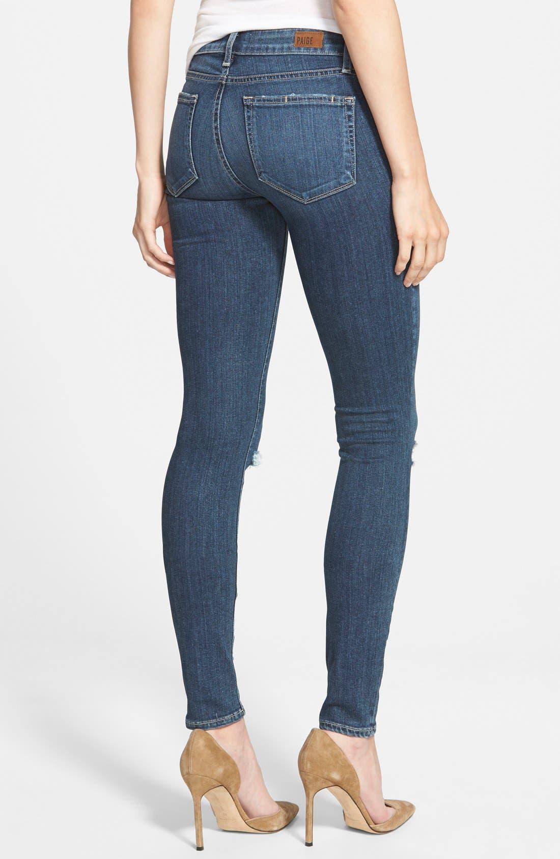 Alternate Image 3  - Paige Denim 'Transcend - Verdugo' Ultra Skinny Jeans (Quinnley Destructed)