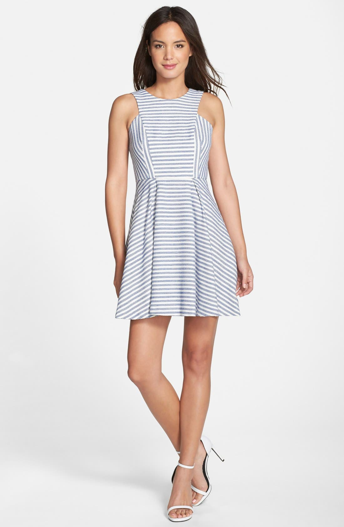 Alternate Image 3  - BCBGeneration Stripe Tweed Fit & Flare Dress