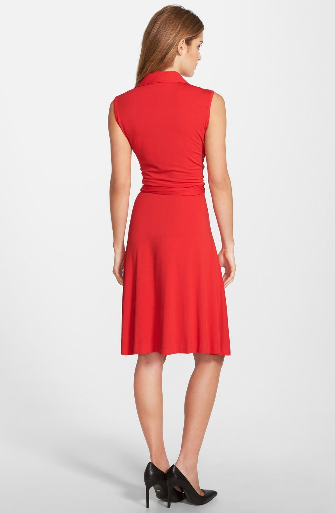Alternate Image 2  - Vince Camuto Sleeveless Wrap Jersey Dress (Regular & Petite) (Nordstrom Exclusive)