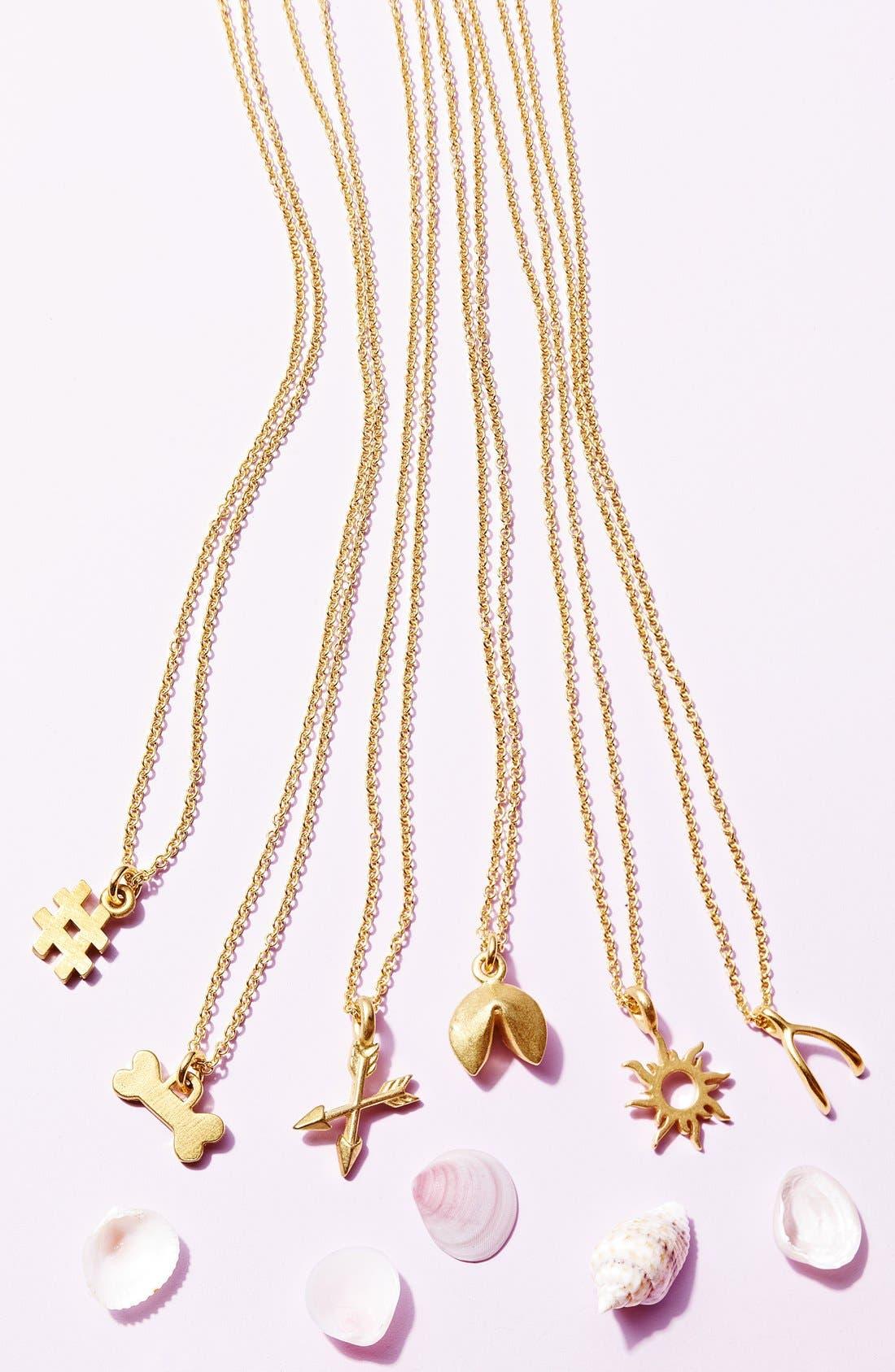 Alternate Image 3  - Dogeared 'Good Vibes Only' Sunburst Pendant Necklace