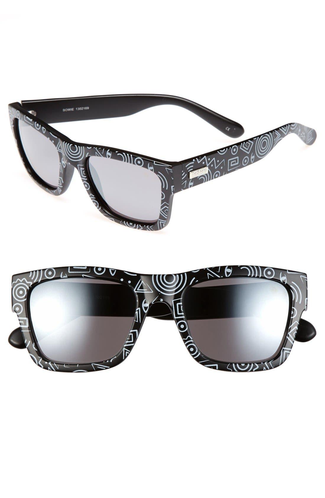 Alternate Image 1 Selected - Le Specs 'Bowie' 54mm Geo Print Sunglasses