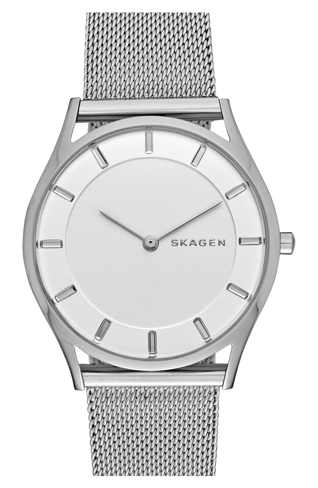 Alternate Image 1 Selected - Skagen 'Holst' Mesh Strap Watch, 34mm