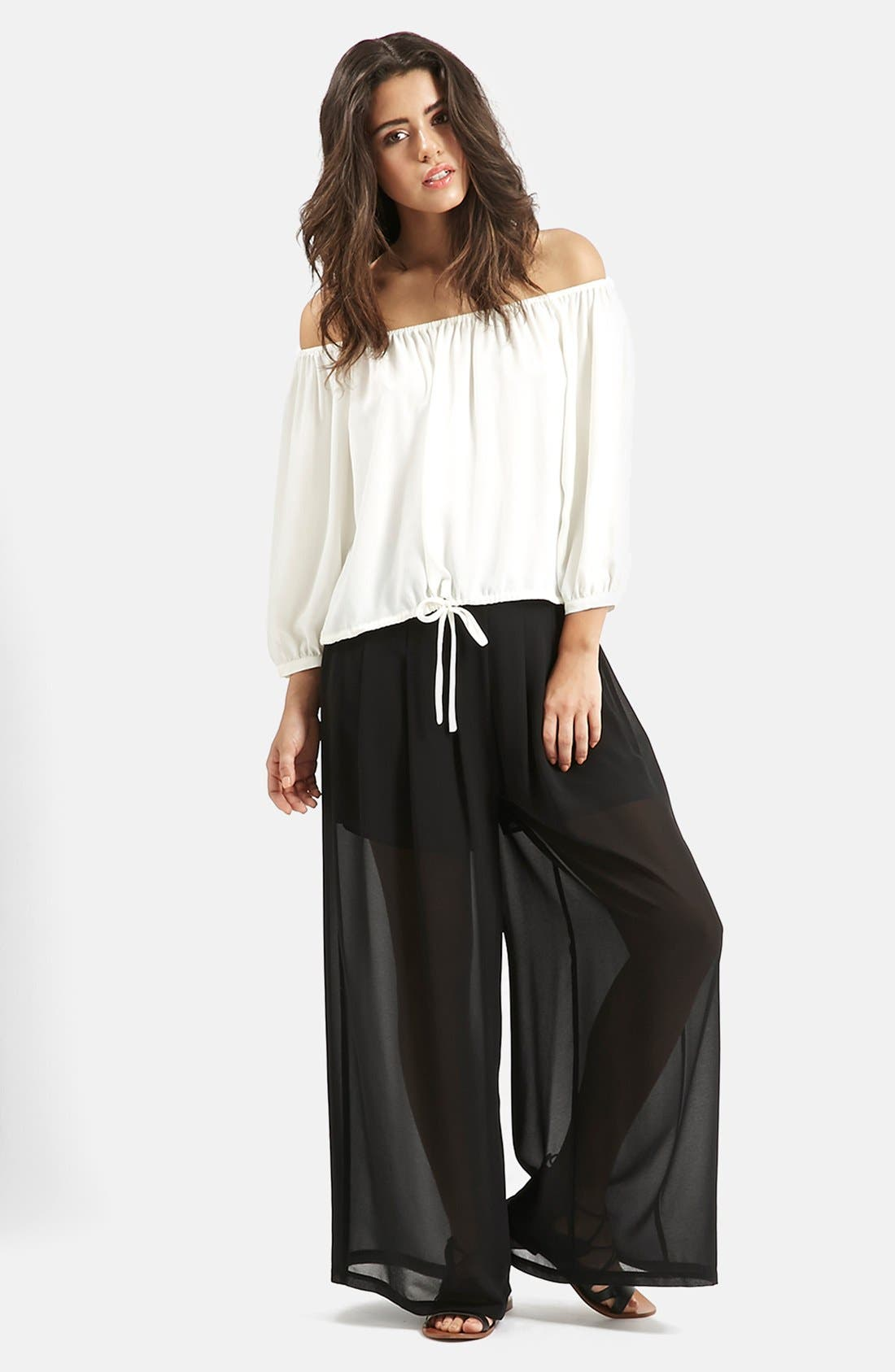 Alternate Image 6  - KENDALL + KYLIE at Topshop Wide Leg Palazzo Trousers