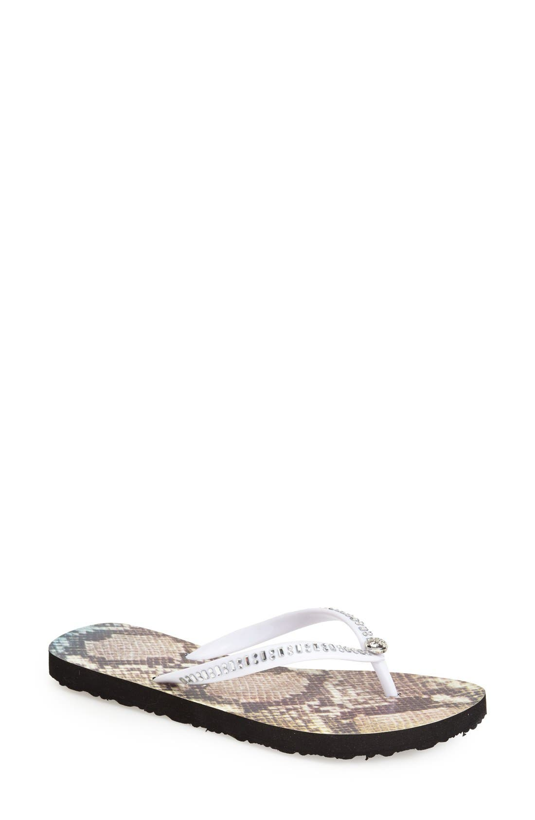 Main Image - GUESS 'Paiva' Embellished Flip Flop (Women)