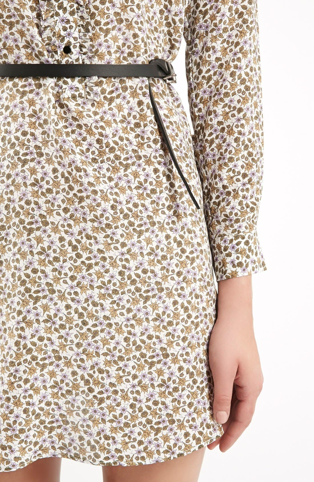Alternate Image 4  - Topshop Unique 'Ottoline' Floral Print Silk Tunic
