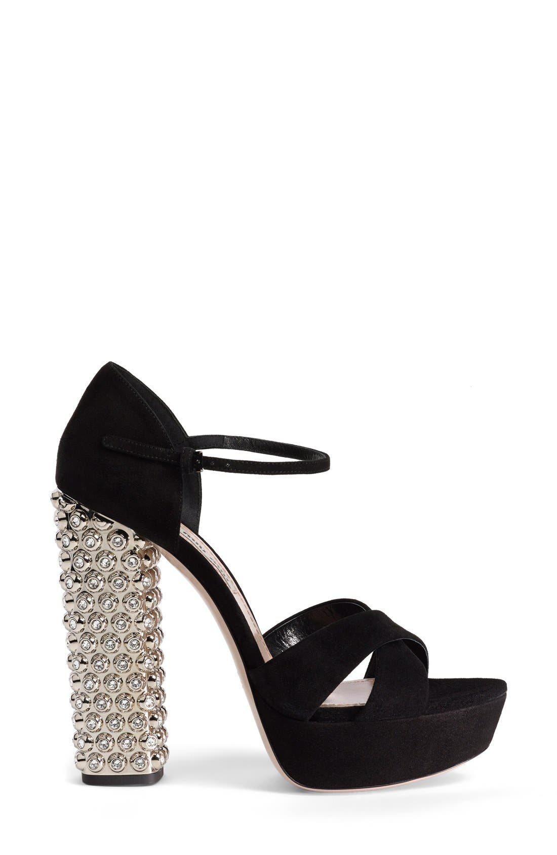 Alternate Image 5  - Miu Miu Jeweled Platform Sandal (Women)