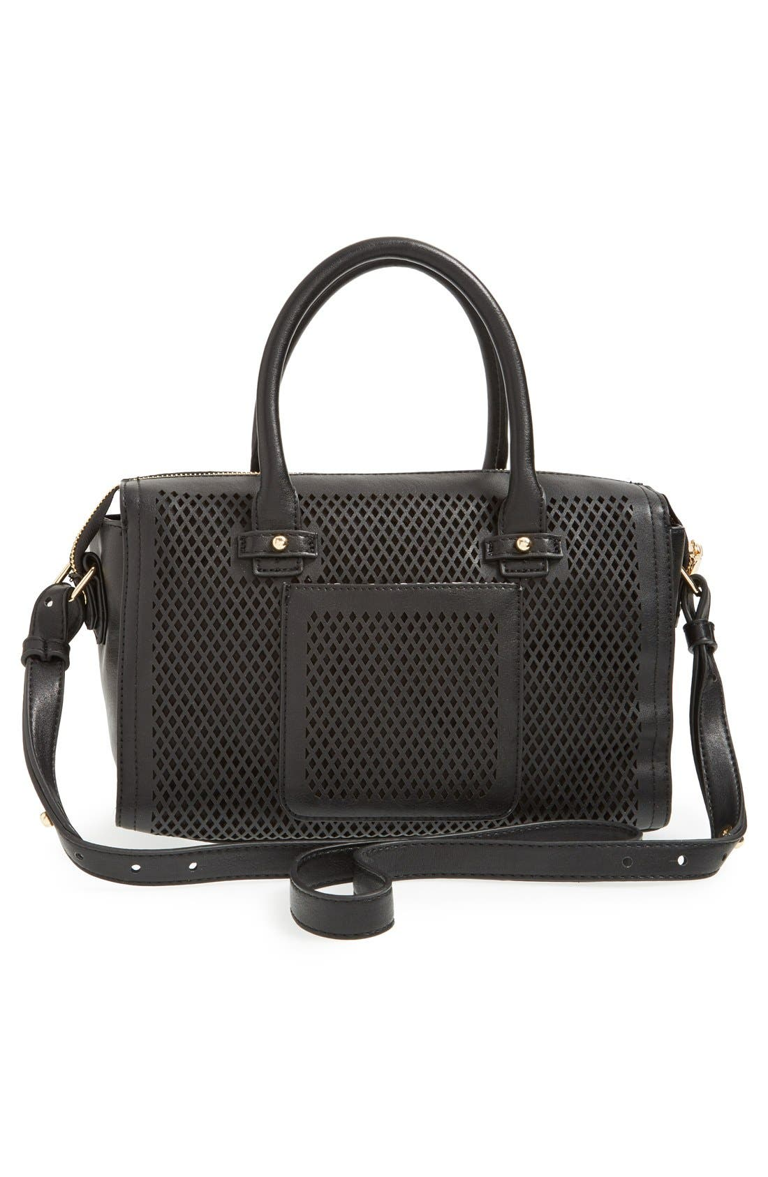 Alternate Image 3  - Big Buddha Perforated Faux Leather Satchel