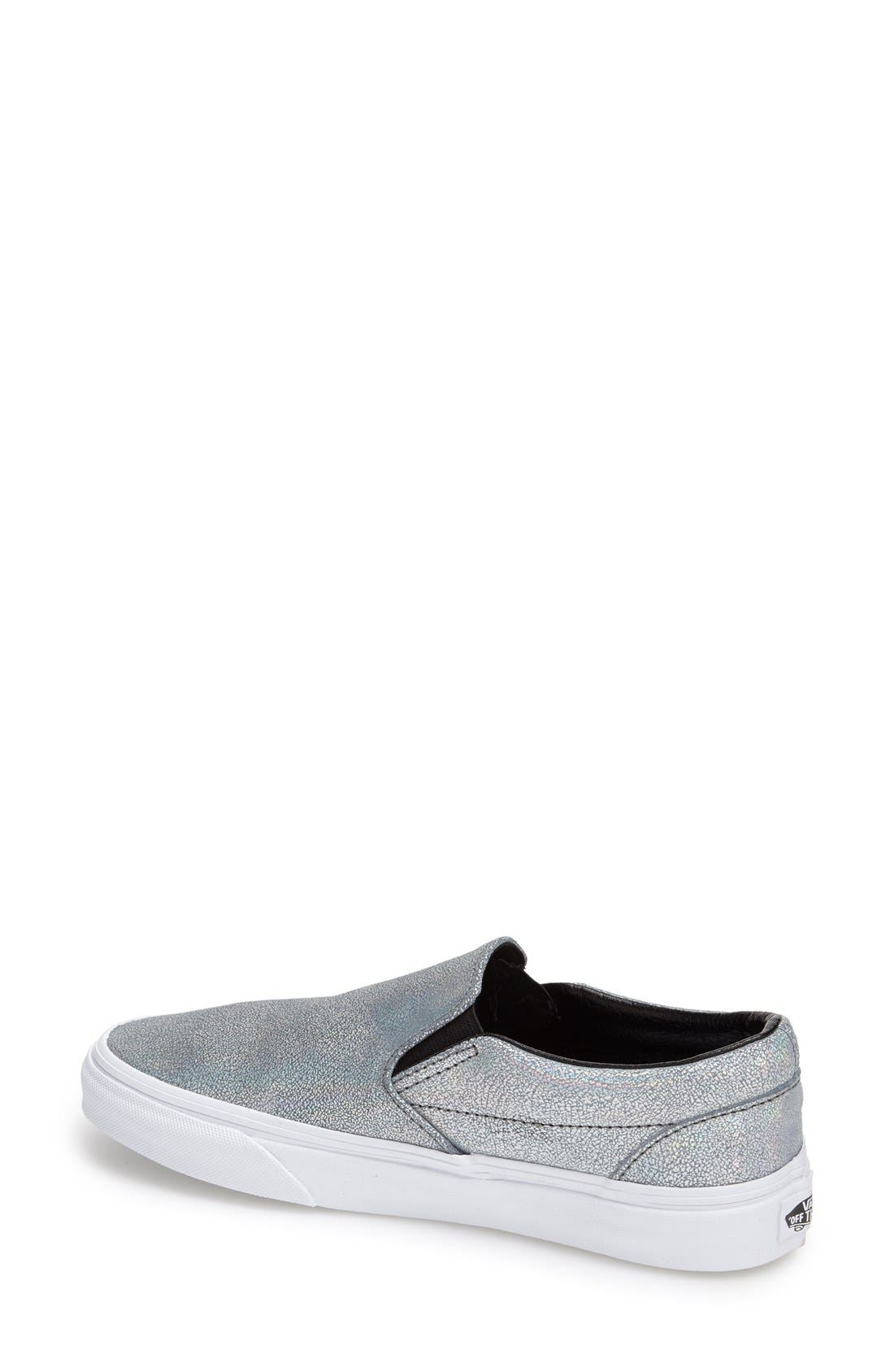 Alternate Image 2  - Vans 'Classic - Iridescent' Slip-On Sneaker (Women)