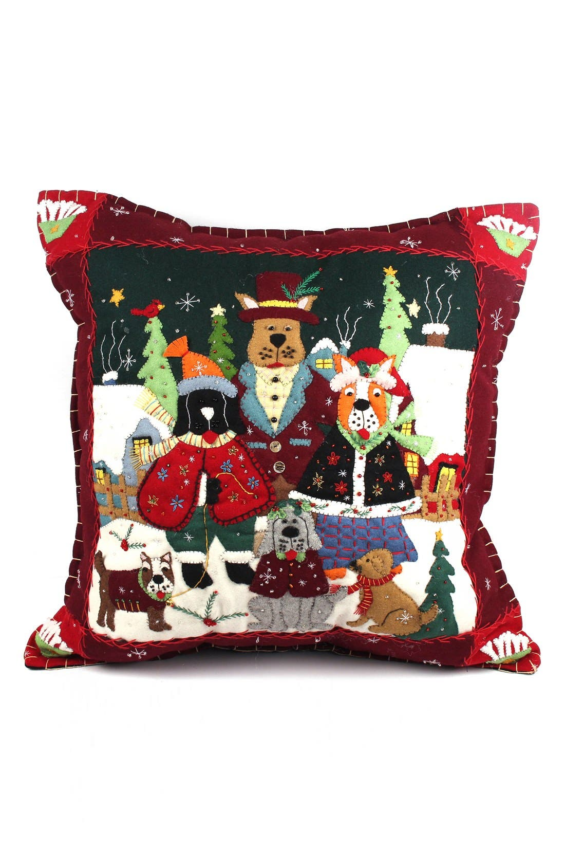Alternate Image 1 Selected - New World Arts Dogs Family Accent Pillow