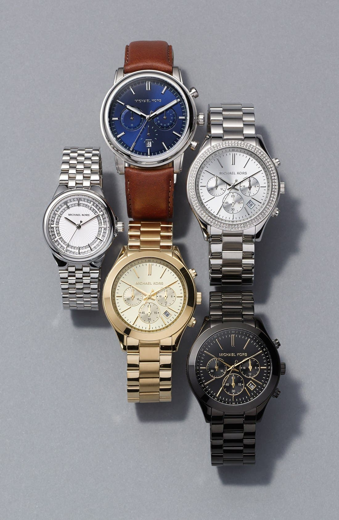 Alternate Image 4  - Michael Kors 'Slim Runway' Crystal Bezel Chronograph Bracelet Watch, 42mm (Nordstrom Exclusive)