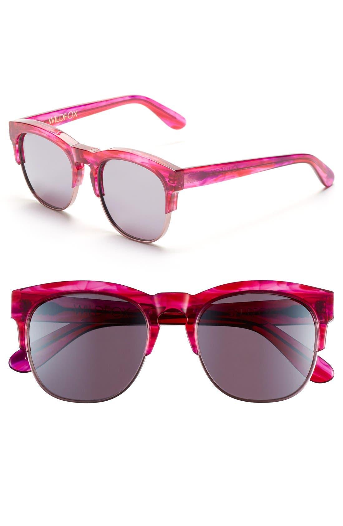 Main Image - Wildfox 'Club Fox Deluxe' 52mm Sunglasses