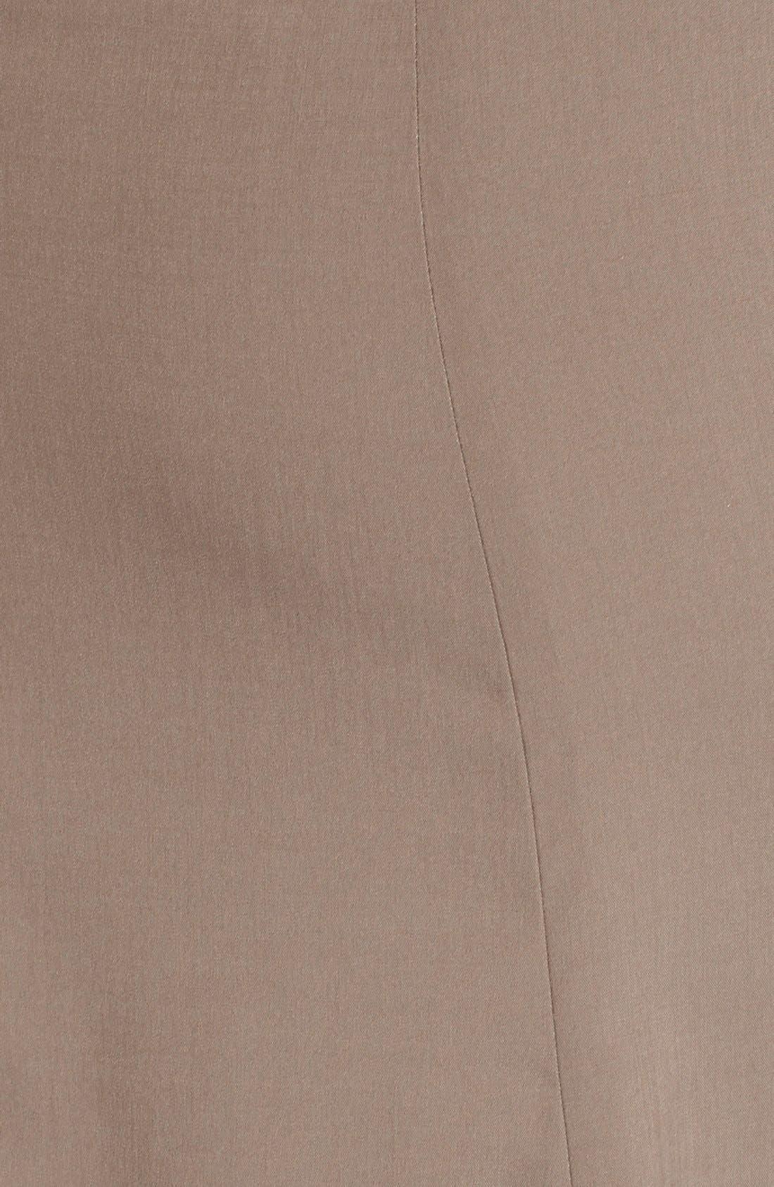 Alternate Image 3  - Halston Heritage Studded Suede Front Midi Skirt