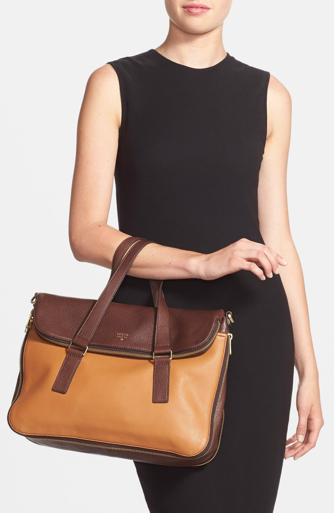 Alternate Image 2  - Fossil 'Preston' Foldover Leather Tote (Online Only)