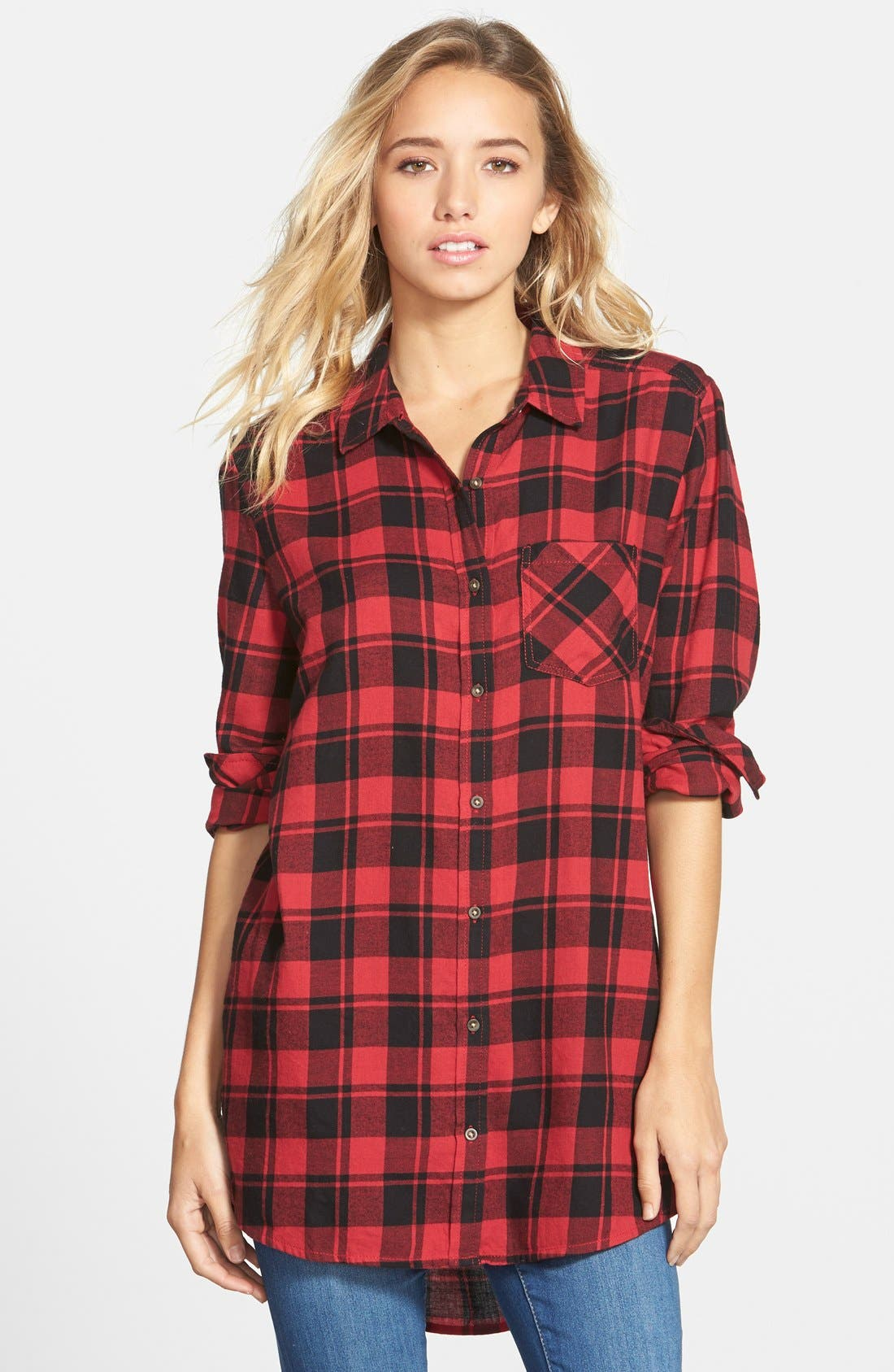 Alternate Image 1 Selected - BP. Plaid Shirt