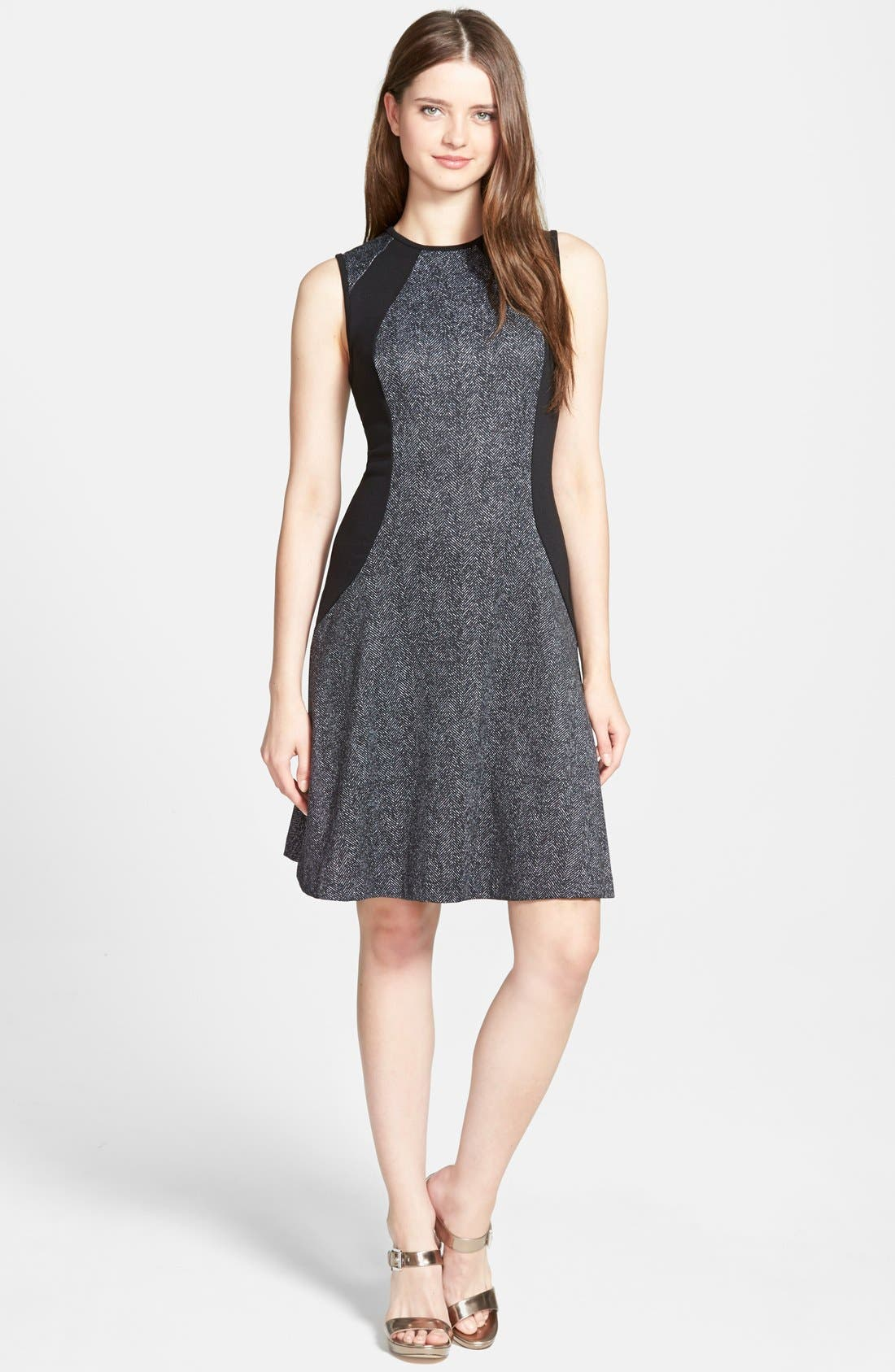Alternate Image 1 Selected - MICHAEL Michael Kors 'Lansdown' Print Sleeveless Panel  Dress