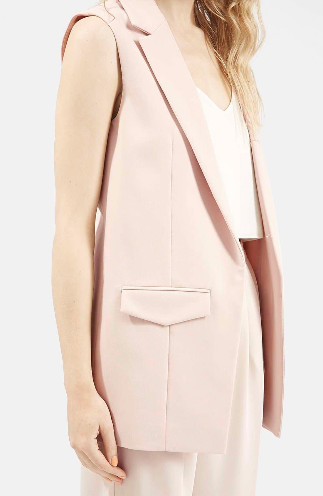 Alternate Image 5  - Topshop 'Holly' Sleeveless Jacket