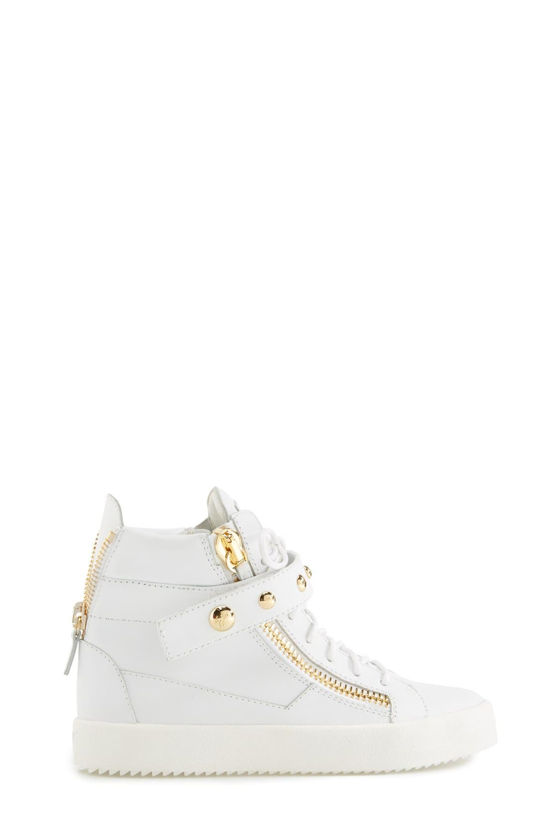 Alternate Image 4  - Giuseppe Zanotti 'May London' High Top Sneaker (Women)