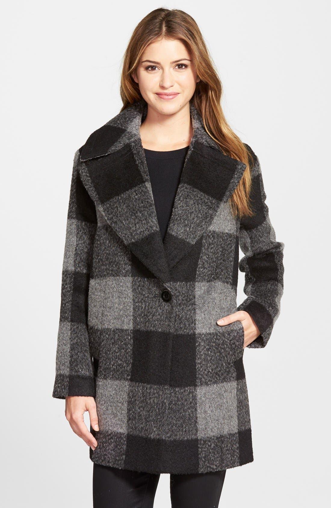 Alternate Image 1 Selected - kensie Oversize Plaid Coat