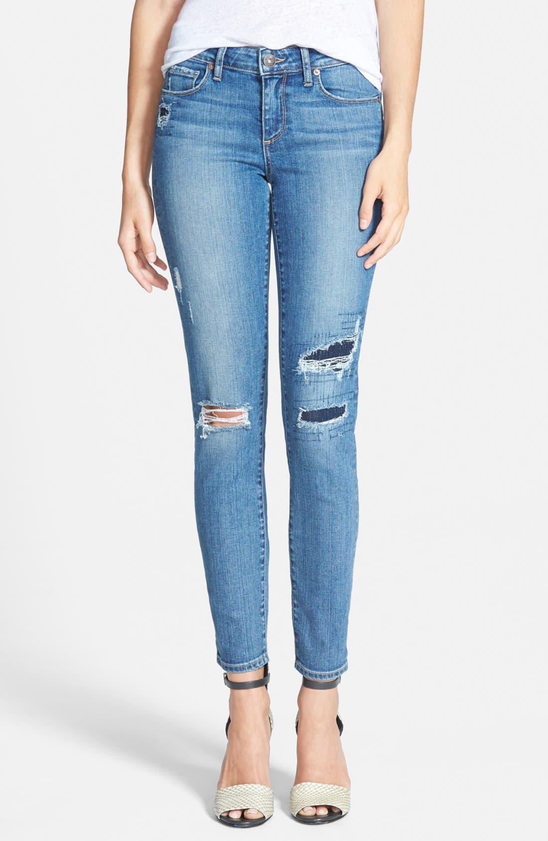 Main Image - Paige Denim 'Skyline' Ankle Peg Skinny Jeans (Esme Destructed)