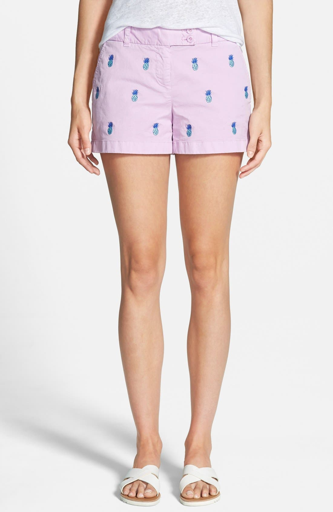 Alternate Image 1 Selected - Vineyard Vines Pineapple Embroidered Shorts