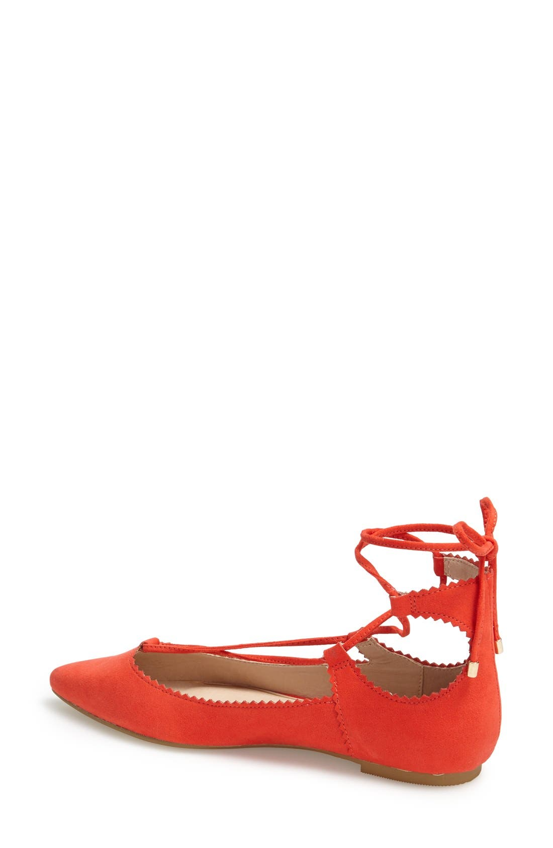 Alternate Image 2  - Topshop 'Finest' Pointy Toe Ghillie Flat (Women)