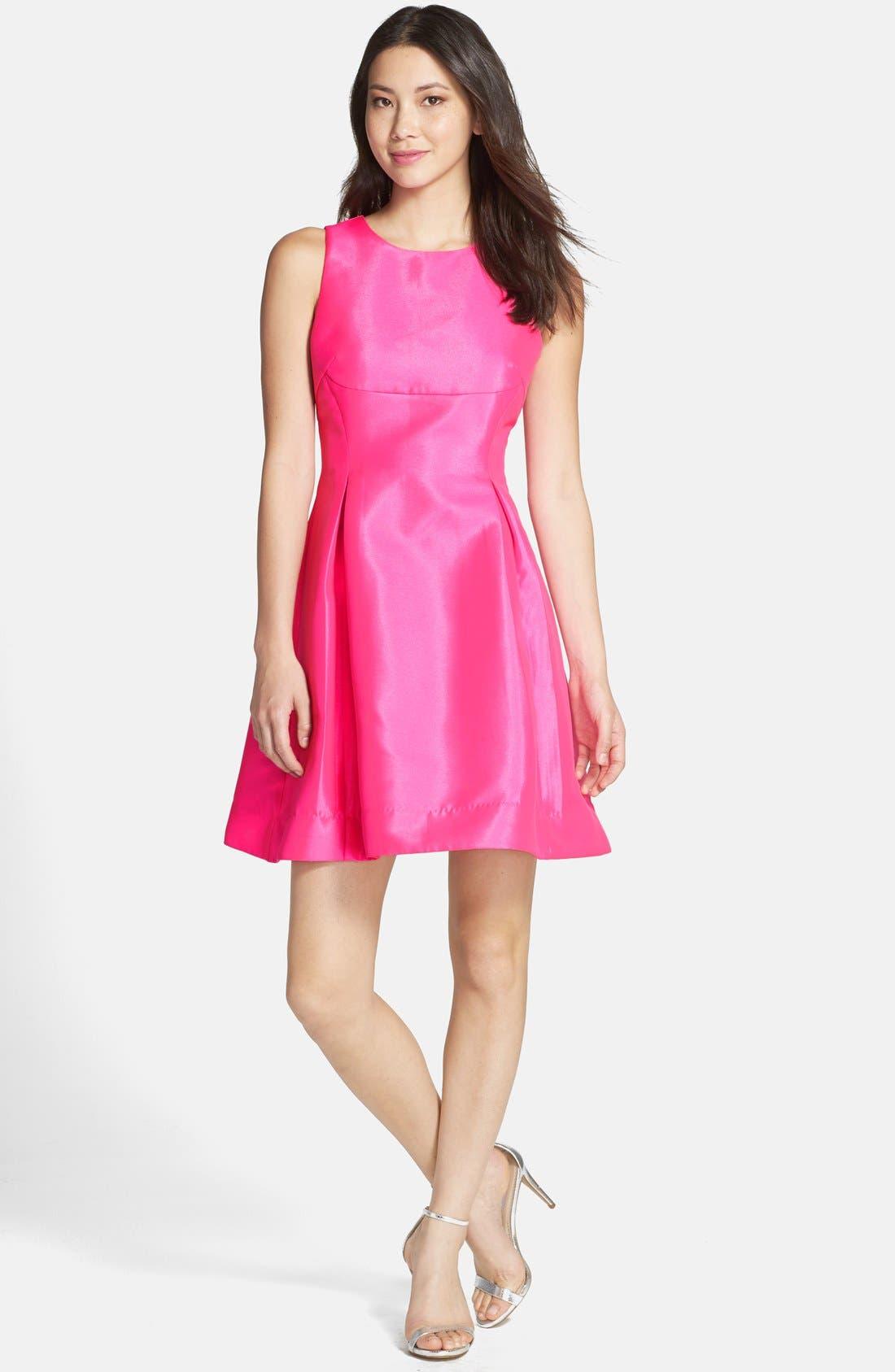 Alternate Image 3  - Kaya & Sloane Satin Fit & Flare Dress