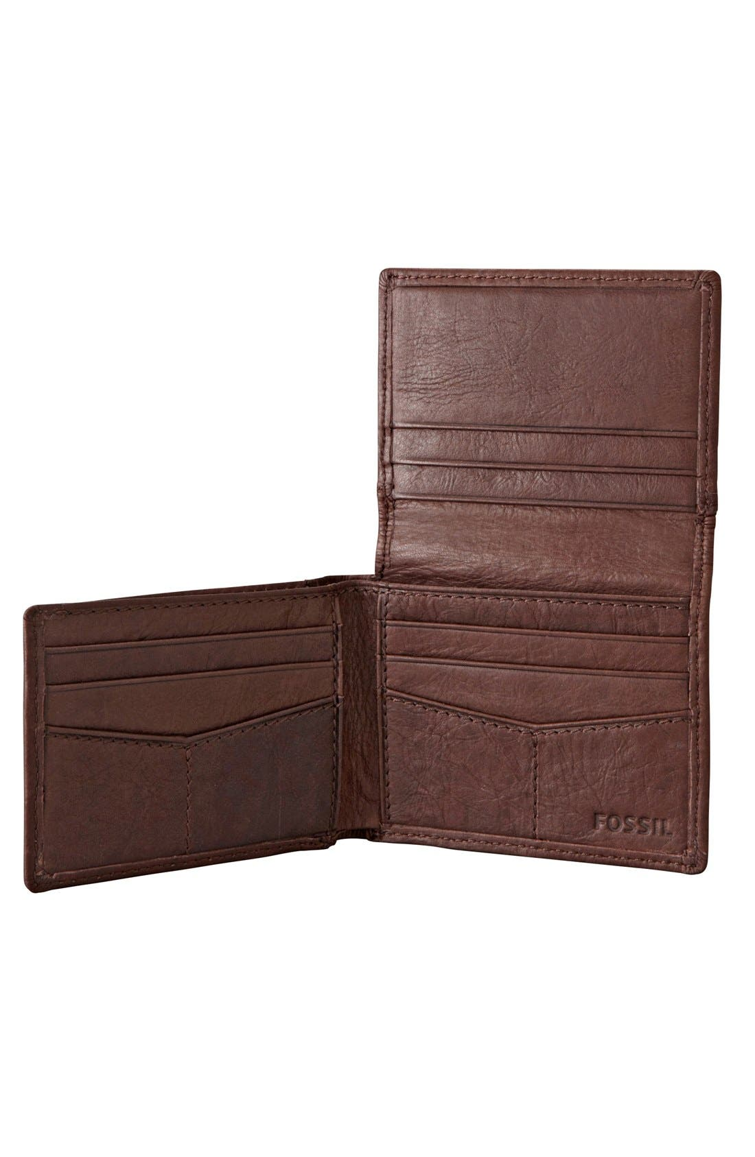 Alternate Image 3  - Fossil 'Ingram' Leather Flip Trifold Wallet