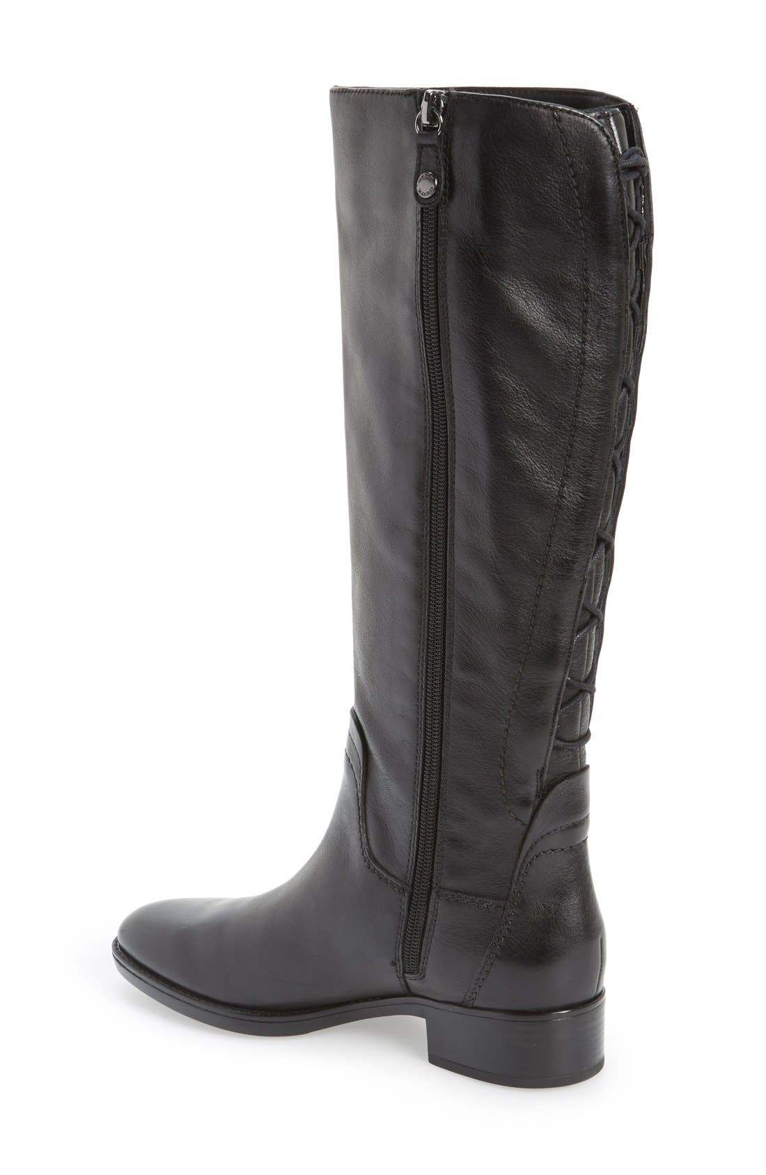 Alternate Image 2  - Geox 'Felicity' Adjustable Shaft Tall Riding Boot (Women)