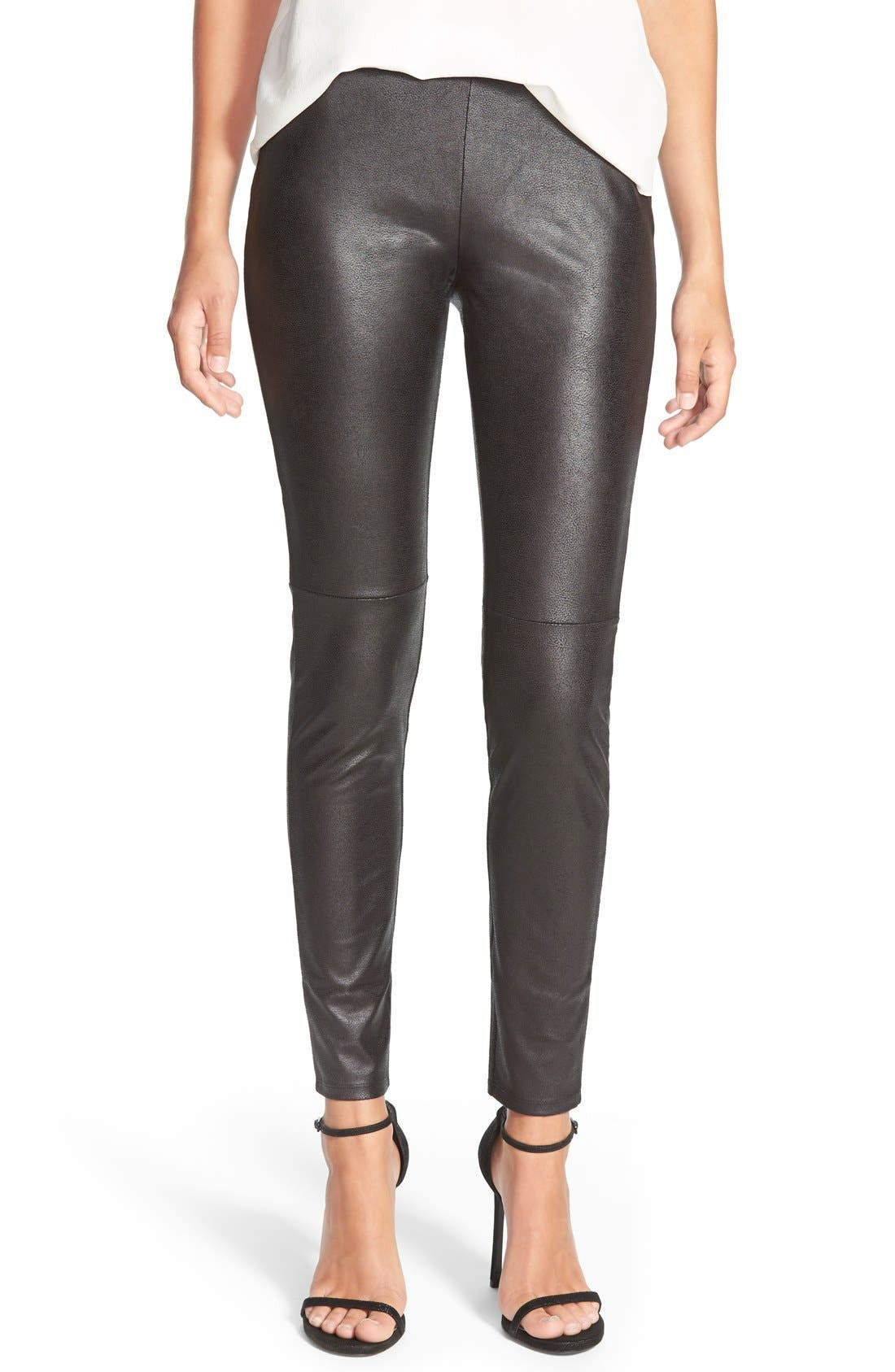 Main Image - Trouvé Faux Leather Leggings