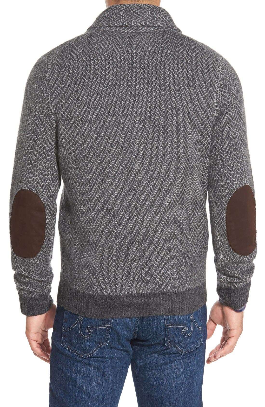 Alternate Image 2  - John W. Nordstrom® Shawl Collar Cashmere Sweater (Regular & Tall)